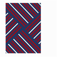 Geometric Background Stripes Red White Large Garden Flag (two Sides)