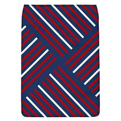 Geometric Background Stripes Red White Flap Covers (l)