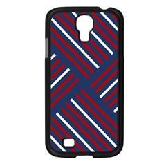 Geometric Background Stripes Red White Samsung Galaxy S4 I9500/ I9505 Case (black)