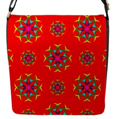 Geometric Circles Seamless Pattern Flap Messenger Bag (s)