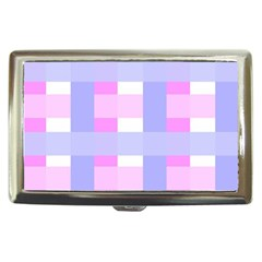 Gingham Checkered Texture Pattern Cigarette Money Cases by Nexatart