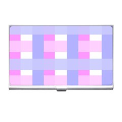 Gingham Checkered Texture Pattern Business Card Holders by Nexatart