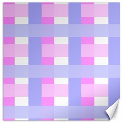 Gingham Checkered Texture Pattern Canvas 20  X 20
