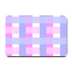 Gingham Checkered Texture Pattern Small Doormat  by Nexatart