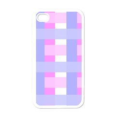 Gingham Checkered Texture Pattern Apple Iphone 4 Case (white) by Nexatart