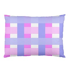 Gingham Checkered Texture Pattern Pillow Case (two Sides)