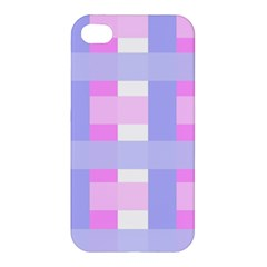 Gingham Checkered Texture Pattern Apple Iphone 4/4s Hardshell Case by Nexatart