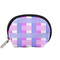 Gingham Checkered Texture Pattern Accessory Pouches (small)  by Nexatart