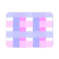 Gingham Checkered Texture Pattern Double Sided Flano Blanket (mini)  by Nexatart