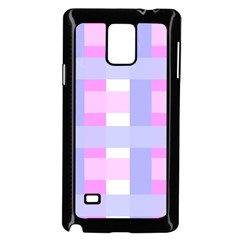 Gingham Checkered Texture Pattern Samsung Galaxy Note 4 Case (black)