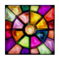 Glass Colorful Stained Glass Tile Coasters