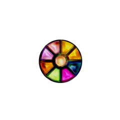 Glass Colorful Stained Glass 1  Mini Buttons by Nexatart