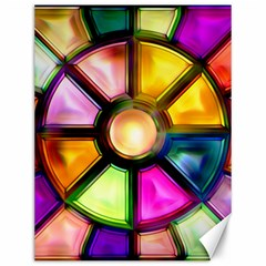 Glass Colorful Stained Glass Canvas 12  X 16   by Nexatart