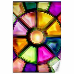 Glass Colorful Stained Glass Canvas 24  X 36  by Nexatart