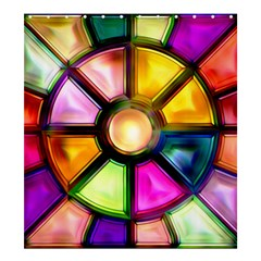 Glass Colorful Stained Glass Shower Curtain 66  X 72  (large)  by Nexatart