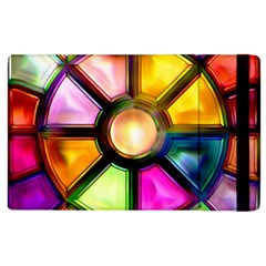 Glass Colorful Stained Glass Apple Ipad 2 Flip Case
