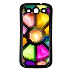 Glass Colorful Stained Glass Samsung Galaxy S3 Back Case (black)