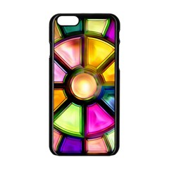 Glass Colorful Stained Glass Apple Iphone 6/6s Black Enamel Case