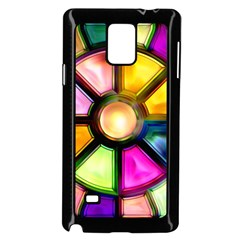Glass Colorful Stained Glass Samsung Galaxy Note 4 Case (black) by Nexatart