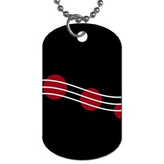 Elegant Abstraction Dog Tag (two Sides) by Valentinaart