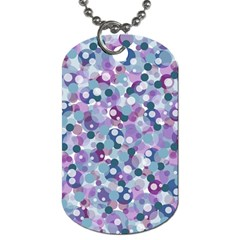 Decorative Bubbles Dog Tag (two Sides) by Valentinaart