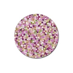 Colorful Bubbles Magnet 3  (round) by Valentinaart