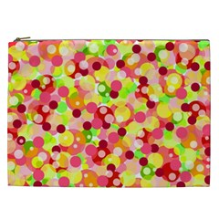 Playful Bubbles Cosmetic Bag (xxl)  by Valentinaart
