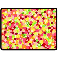 Playful Bubbles Double Sided Fleece Blanket (large)  by Valentinaart