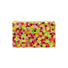 Playful Bubbles Cosmetic Bag (xs) by Valentinaart