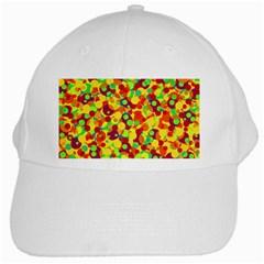 Bubbles Pattern White Cap by Valentinaart