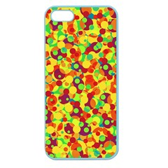Bubbles Pattern Apple Seamless Iphone 5 Case (color) by Valentinaart
