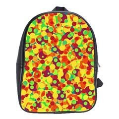 Bubbles Pattern School Bags (xl)  by Valentinaart