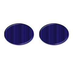Deep Blue Lines Cufflinks (oval) by Valentinaart