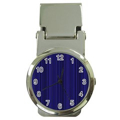 Deep Blue Lines Money Clip Watches by Valentinaart