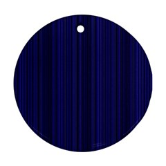Deep Blue Lines Round Ornament (two Sides) by Valentinaart