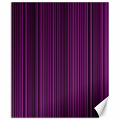Deep Purple Lines Canvas 8  X 10  by Valentinaart