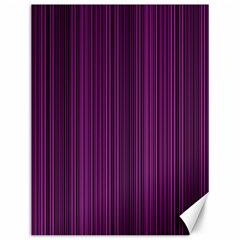 Deep Purple Lines Canvas 12  X 16   by Valentinaart