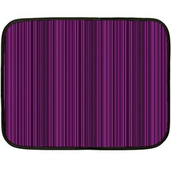 Deep Purple Lines Fleece Blanket (mini) by Valentinaart