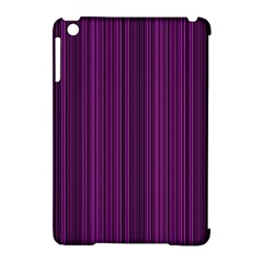 Deep Purple Lines Apple Ipad Mini Hardshell Case (compatible With Smart Cover) by Valentinaart