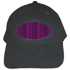 Deep Purple Lines Black Cap by Valentinaart