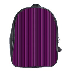 Deep Purple Lines School Bags (xl)  by Valentinaart