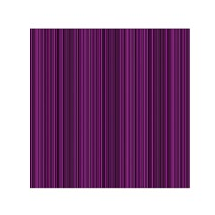 Deep Purple Lines Small Satin Scarf (square) by Valentinaart