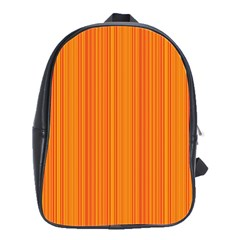 Orange Pattern School Bags(large)  by Valentinaart