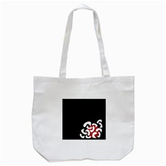Elegant Abstraction Tote Bag (white) by Valentinaart