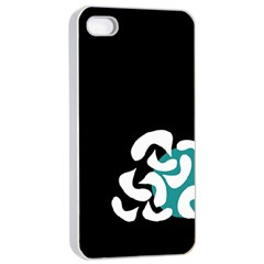 Elegant Abstraction Apple Iphone 4/4s Seamless Case (white) by Valentinaart