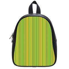Green Lines School Bags (small)  by Valentinaart