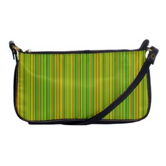 Green Lines Shoulder Clutch Bags by Valentinaart