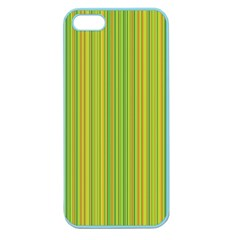 Green Lines Apple Seamless Iphone 5 Case (color) by Valentinaart