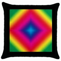 Hippie  Throw Pillow Case (black) by Valentinaart