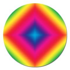 Hippie  Magnet 5  (round) by Valentinaart